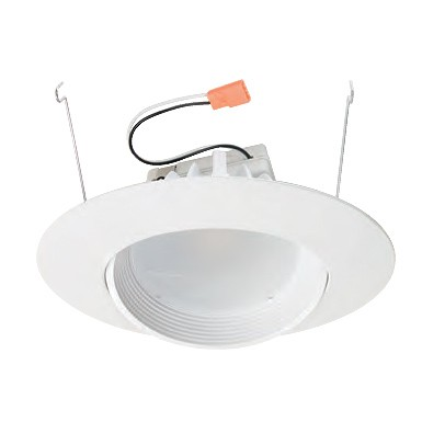 6 Dimmable Adjule Led Recessed Lighting Retrofit White Baffle Eyeball Trim For Slope Ceilings