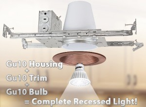 3 inch gu10 MR16 recessed lighting