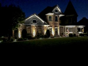 LED low voltage outdoor landscape lighting home or castle Missouri