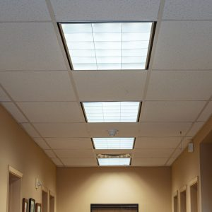 convert fluorescent to led t8 hallway