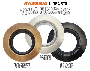 New sylvania ultra rt4 ultra rt6 led recessed lighting trims sylvania ultra rt6 trim kits aloadofball Image collections